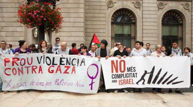 La societat civil palestina es posiciona a favor del dret d'autodeterminació de Catalunya mentre que el govern de Mas nega l'autodeterminació del poble palestí