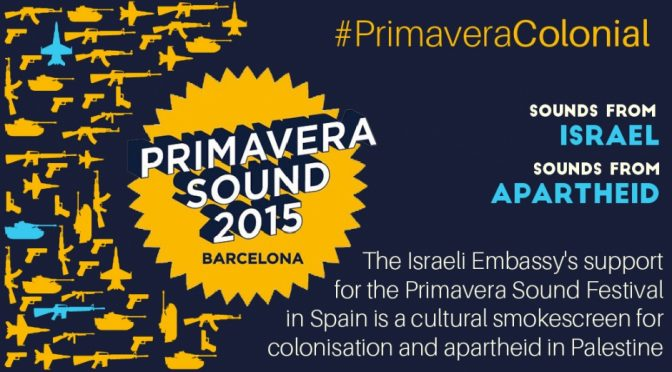 Statement on the collaboration of the Primavera Sound Festival with the Israeli Embassy in Spain
