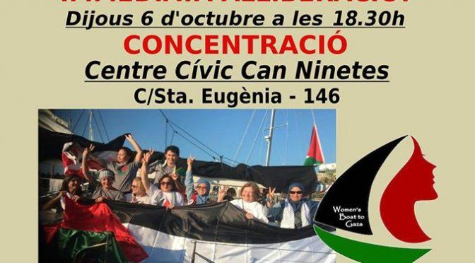 Concentració per la llibertat de les Dones Rumb a Gaza